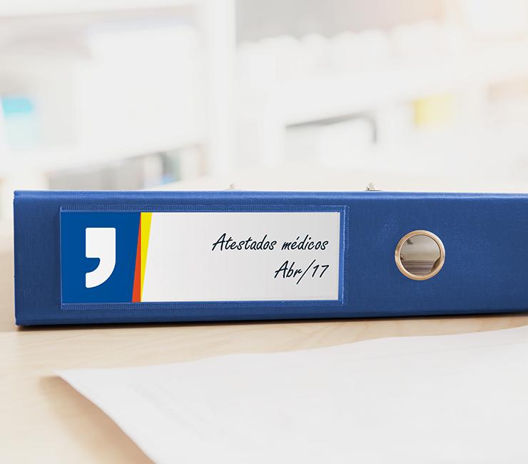 etiquetas personalizadas para escritório