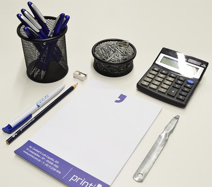 materiais personalizados para escritorio