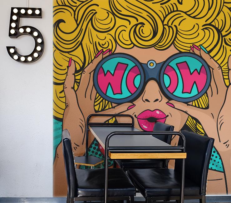 decoração com Adesivos Pop arte