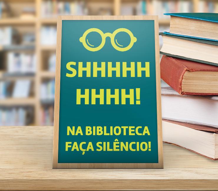 sinalização para biblioteca