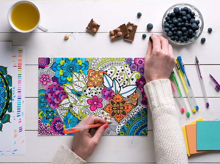 cartela de cores ilustração