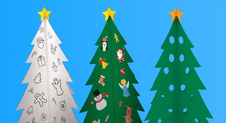 Árvore de Natal de papelão: economize na decoração