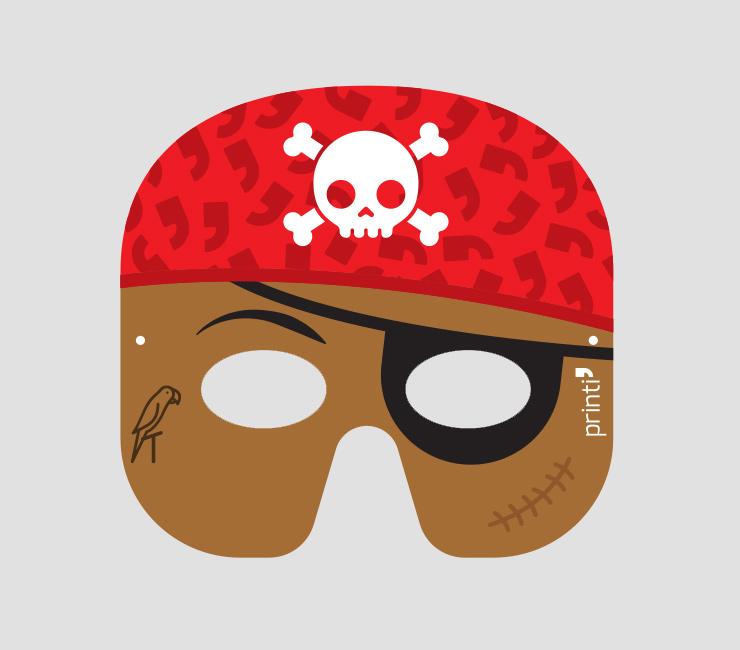 Máscara de pirata negro