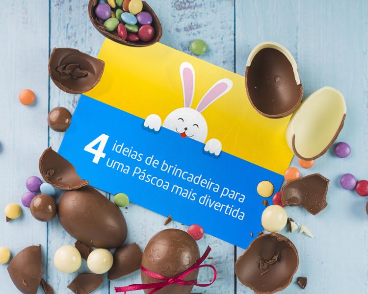 4 ideias de brincadeiras para uma Páscoa mais divertida caça aos ovos