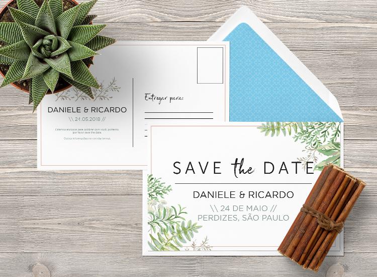 ideias de save then date cartão postal