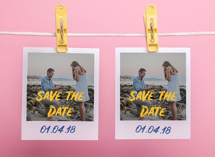 ideias para save the date fotomensagem