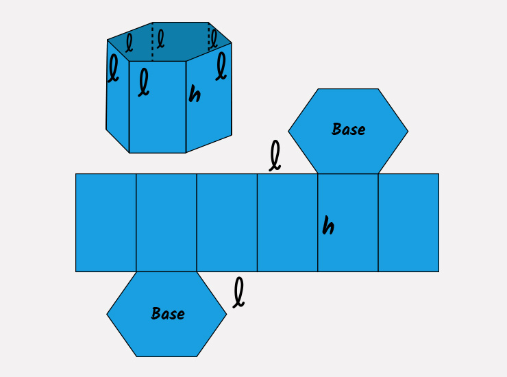 áreas do prisma de mesa