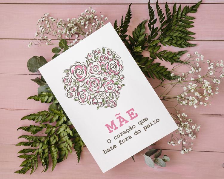 cartão postal dia das mães