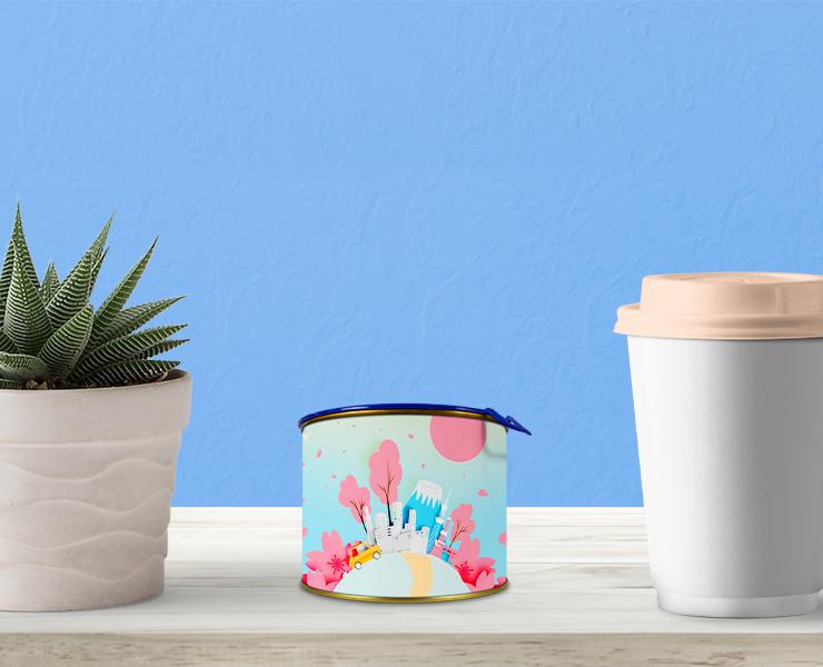 Como usar latas personalizadas na decoração e no seu negócio lata personalizada como decoração na sala de estar