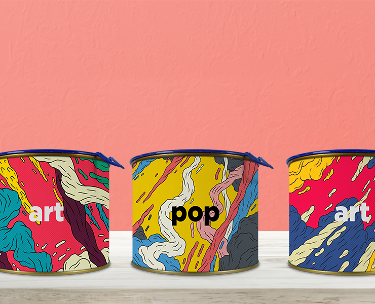 Como usar latas personalizadas na decoração e no seu negócio latas coloridas decoração sala de estar