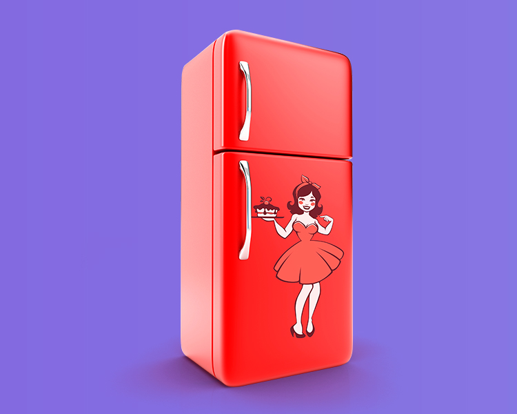 inspiração adesivo para geladeiras