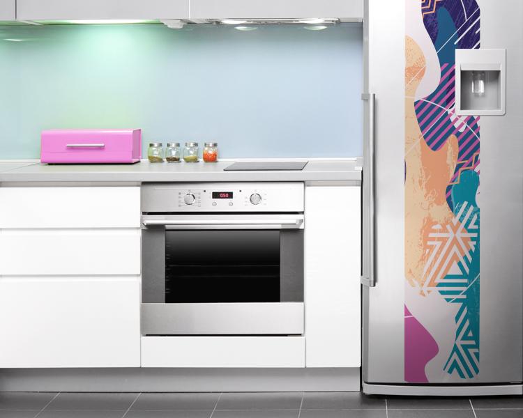 4 ideias para decorar sua cozinha com adesivo de geladeira inspiração cozinha colorida com adesivo personalizado