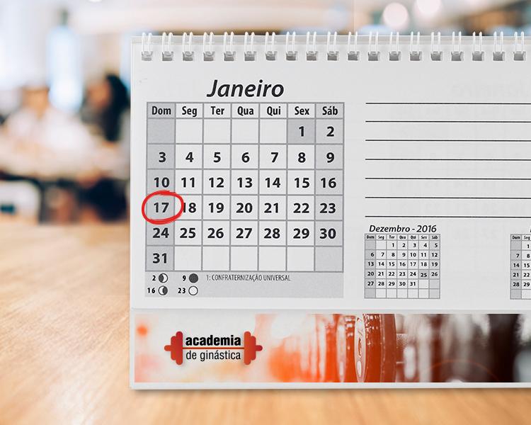calendário anual personalizado para empresas