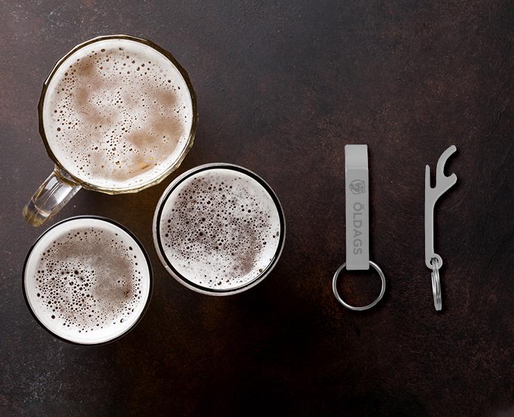 Itens para a sua cerveja artesanal chaveiro abridor de garrafas