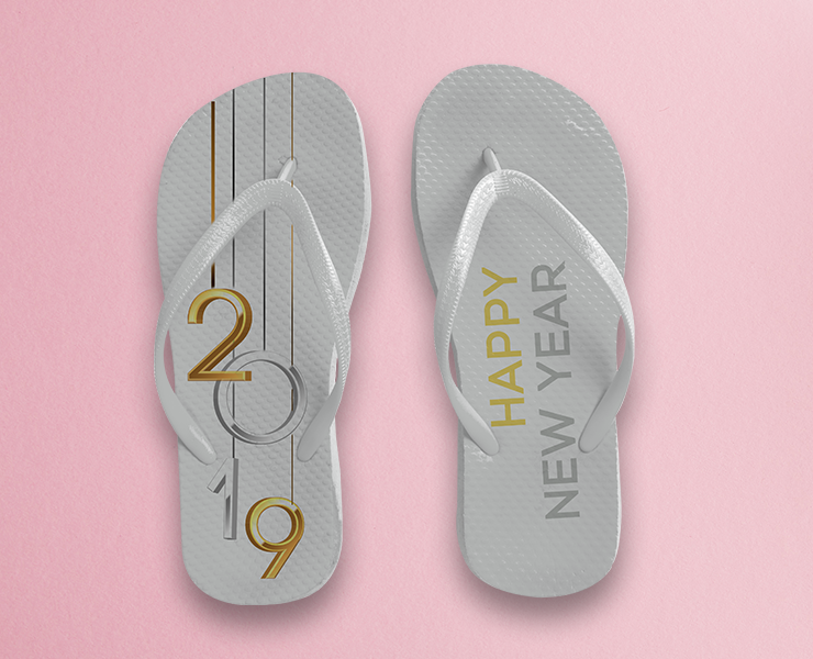 5e98c80060 Como usar chinelos personalizados em seus eventos inspiração de chinelo  branco personalizado festa de fim de