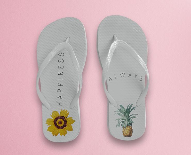 Como usar chinelos personalizados em seus eventos chinelo branco personalizado estilo verão