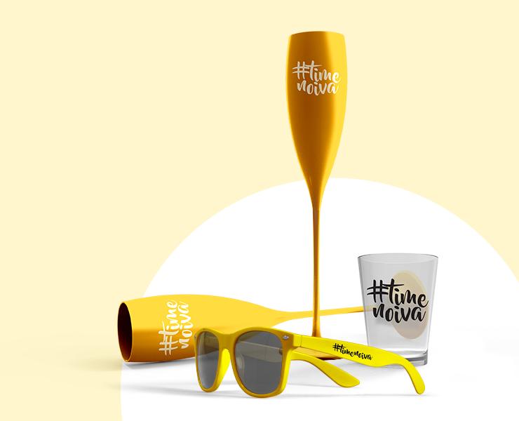 Dicas para organizar seu Chá Bar e Despedida de Solteira taça personalizada, copo de shot e óculos personalizados