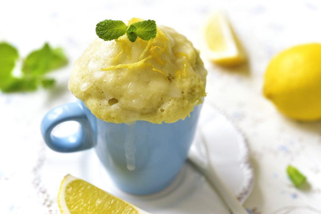 bolo de caneca de limão