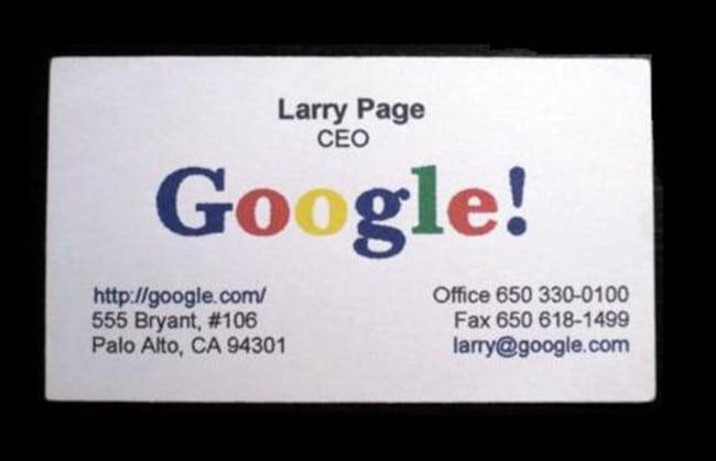 Cartão de visita Larry Page, CEO do Google