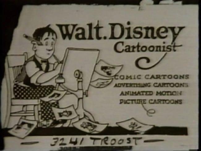 Cartão de visita Walt Disney, Cartunista