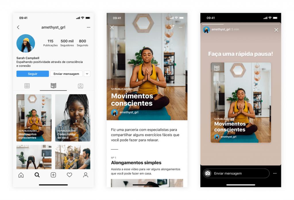 Instagram Guias chega com foco em curadoria de conteúdo — Foto: Divulgação/Instagram