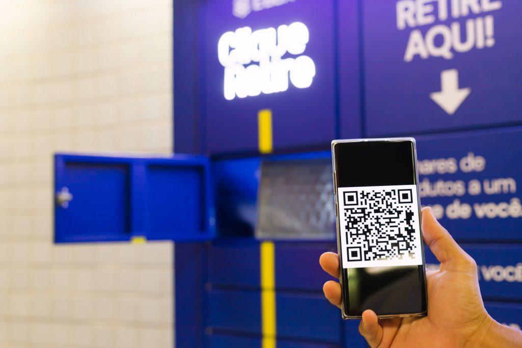 QR code para abrir seu e-box e retirar sua encomenda