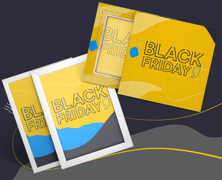 Quadro e Tela Decorativa black friday da printi