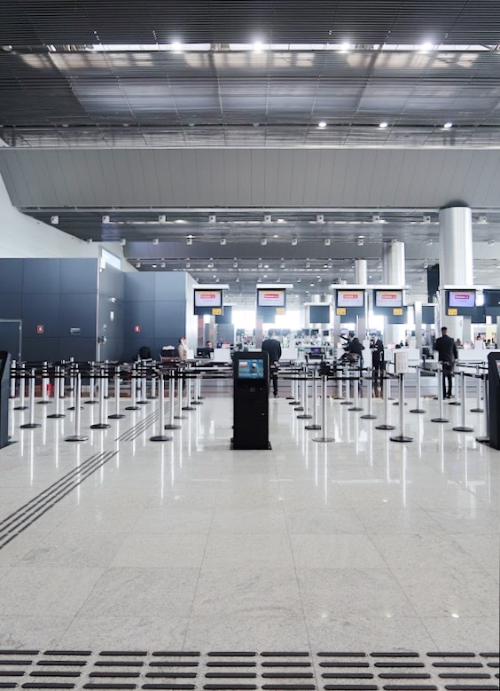 Interior de aeroporto em SP