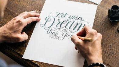 Photo of Explore letras em forma de arte com caligrafia, lettering e all type