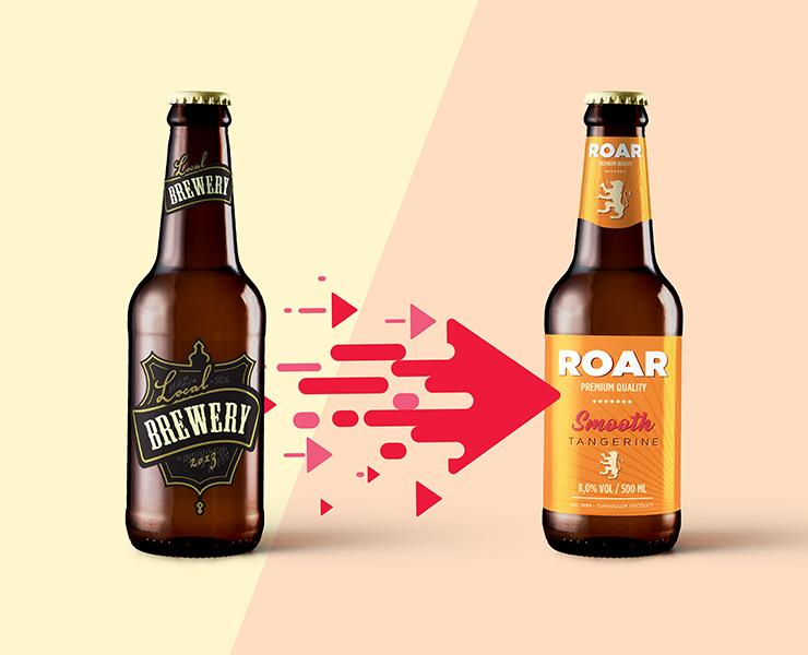 a evolução dos rotulos de cervejas