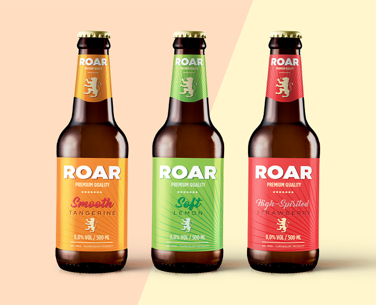 use cores diferentes para diferenciar sabores de cervejas